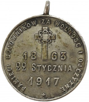 Poland, Medal for the memory of the 54th years of the January Uprising 1917 - extremely rare