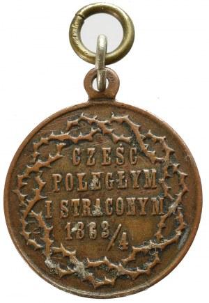 Polska, Medal Półwiekowa rocznica Powstania Styczniowego 1914, nakł. Bernsteina, Unger Lwów