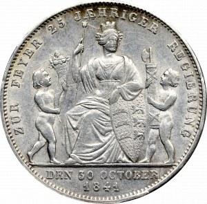 Niemcy, Wirtemberga, Gulden 1841 - srebrny jubileusz