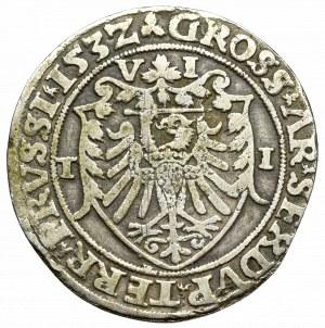 Sigismund I the Old, 6 grossus 1532, Thorn - Majnert forgery