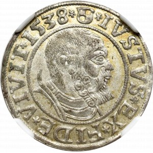 Germany, Preussen, Albrecht Hohenzollern, Groschen 1538, Konigsberg - NGC MS62