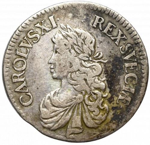 Sweden, Carl XI, 2 mark 1667, Stockholm