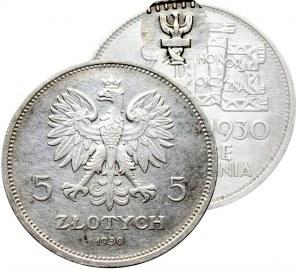 II Republic of Poland, 5 zloty 1930 November Uprising