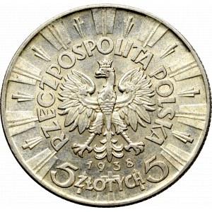 II Republic of Poland, 5 zloty 1938 Pilsudski