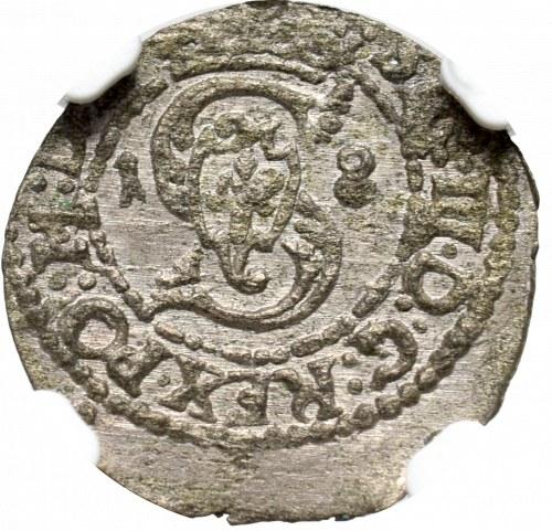 Sigismund III Vasa, Solidus 1618, Vilnius - NGC MS63