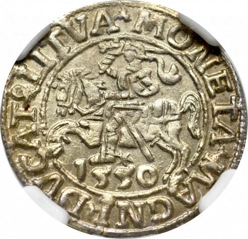 Sigismund II Augustus, Halfgroat 1550, Vilnius - LI/LITVA NGC MS62