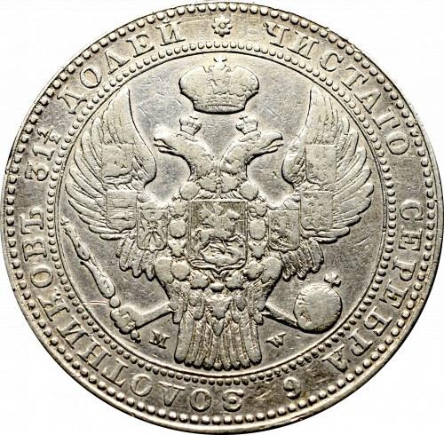 Poland under Russia, Nicholas I, 1-1/2 rouble=10 zloty 1836 MW, Warsaw