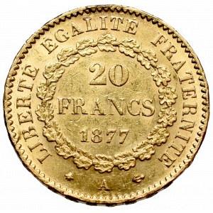 France, 20 francs 1877