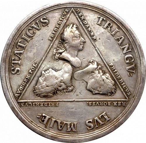 Germany, Saxony, Medal Alliance of 3 Friderichs 1709
