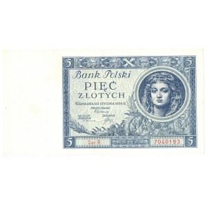 II Rzeczpospolita, 5 złotych 1930 Ser. R