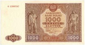 PRL, 1000 złotych 1946 G