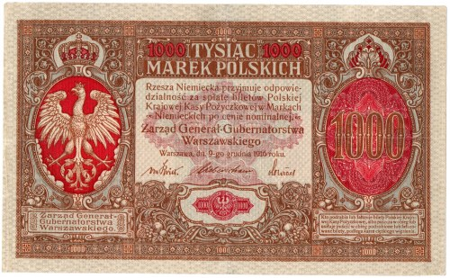 Generalne Gubernatorstwo, 1000 marek polskich 1916, Generał