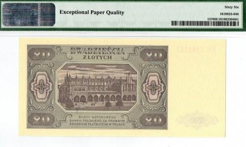 PRL, 20 złotych 1948 KE - PMG 66EPQ