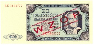 PRL, zestaw 20 - 500 złotych 1948 - WZÓR (4 egzemplarze)