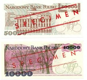 PRL, zestaw 10.000 złotych 1988 i 50.000 złotych 1993 - WZÓR