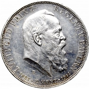 Germany, Bayern, 5 mark 1911