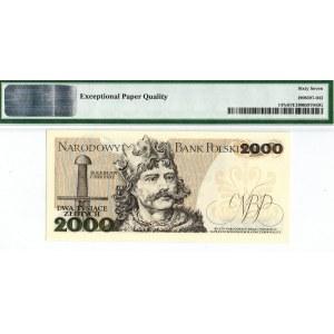 PRL, 2000 złotych 1982 BT - PMG 67EPQ