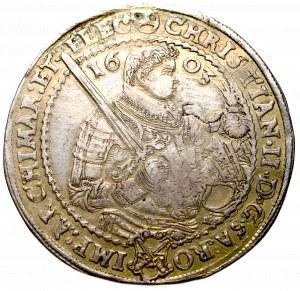 Germany, Saxony, Christian II, John Georg and August, Thaler 1603