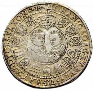 Niemcy, Saksonia, Chrystian II, Jan Jerzy i August, Talar 1603