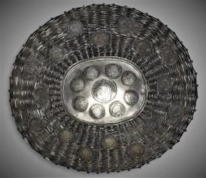 Austria, Koszyk na pieczywo z monetami, srebro