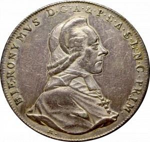 Austria, Bishopic of Salzburg, Hieronim Joseph, Thaler 1789