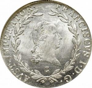 Austria, Franciszek I, 20 krajcarów 1809 C - NGC MS64