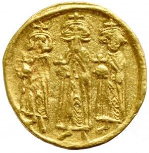 Byzantine, Heraclius, Hreclius Constantinus and Heraclonas, Solidus without date, Constantinople