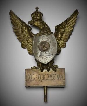 II RP, Grot sztandaru Orzeł z nałożonym ryngrafem Sopyło