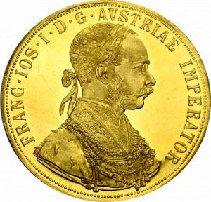 Austria, Franz Joseph, 4 ducats 1915 - restrike