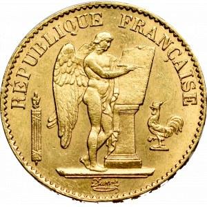 France, 20 francs 1876