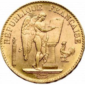 France, 20 francs 1896