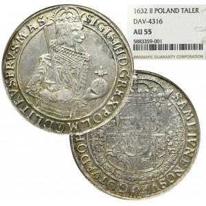 Sigismund III, Thaler 1632, Bromberg - NGC AU55