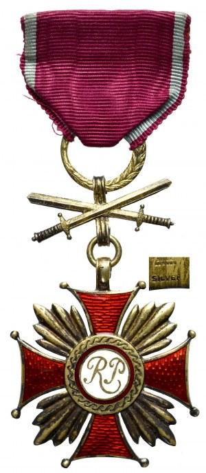 PSZnZ, Złoty Krzyż Zasługi z Mieczami - Spink&Son srebro