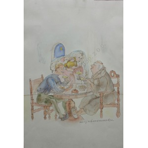Maja Berezowska (1898-1978), Przy stole