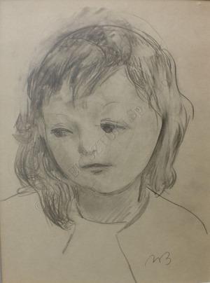 Wacław Borowski (1885-1954), Portret dziecka