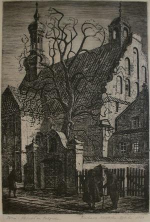 Barbara Narębska-Dębska (1921-2000), Toruń-Kościół na Podgórzu (1949)
