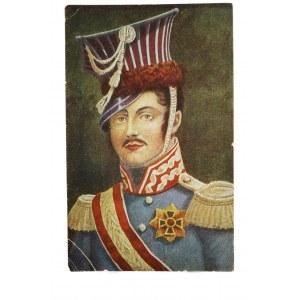 Pocztówka Książę Józef Poniatowski w mundurze