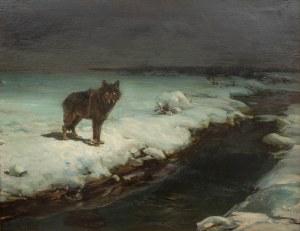 Alfred Wierusz-Kowalski (1849 Suwałki - 1915 Monachium), Wilk, lata 80. XIX w.