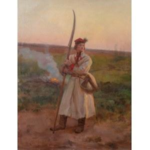 Józef Chełmoński (1849 Boczki - 1914 Kuklówka Zarzeczna), Kosynier, 1906 r.