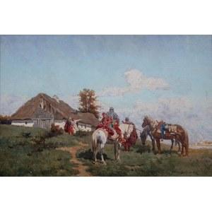 Władysław Karol Szerner (1870 Szebenice –1936 tamże), Jeźdźcy przed chatą