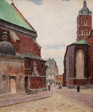 Ignacy Pinkas (1888 Jasło - 1935 Kraków), Kraków - fragment z placu Mariackiego
