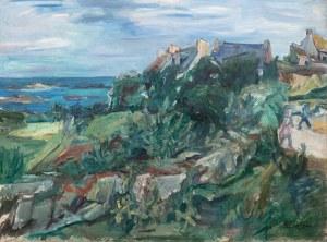 Henryk Epstein (1891 Łódź - 1944 Auschwitz), Pejzaż z Bretanii, lata 30-te XX w.
