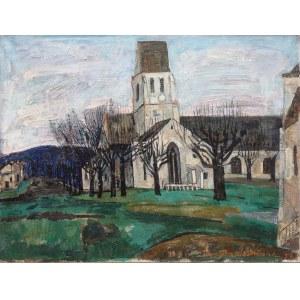 Joseph Pressmane (1904 Beresteczko- 1967 Paryż), Kościół w okolicach Betz, Oise, 1958 r.