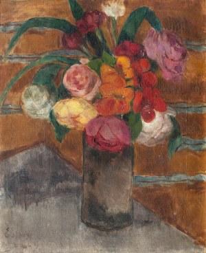 Eugeniusz Eibisch (1896 Lublin - 1987 Warszawa), Martwa natura z kwiatami