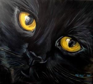 Iwona GRECZKA, Czarny kot, 2019 r.