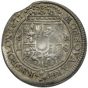 Jan III Sobieski, Ort Bydgoszcz 1677 MH na gałązkach - RZADSZY