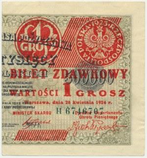 1 grosz 1924 - H - prawa połowa