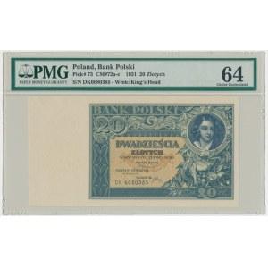 20 złotych 1931 - D.K - PMG 64