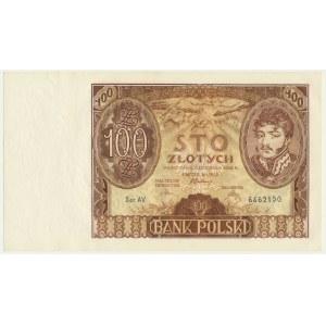 100 złotych 1934 - Ser.AV - znw. +X+