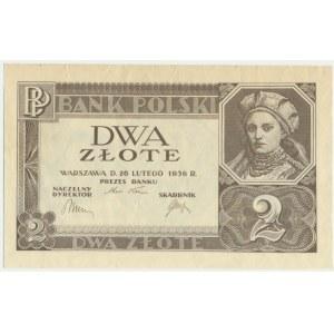 2 złote 1936 - bez poddruku